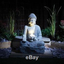La Fontaine Led De Caractéristique De L'eau De Jardin De Bouddha De Sérénité A Contenu L'ornement De 56cm