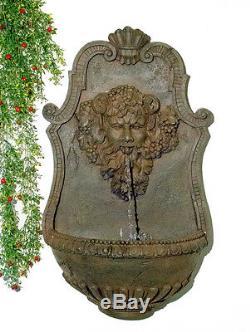 Le Jardin De Fontaine De Zeus Fixé Au Mur Allume La Finition En Bronze 83cm
