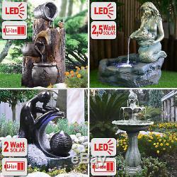 Le Kit Extérieur De Pompe De Bassin De Fontaine De Dispositif Solaire De L'eau De Jardin A Mené Le Bain D'oiseau De Lumières