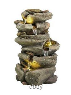 Led Outdoor 6 Tier Rock Fontaine D'eau