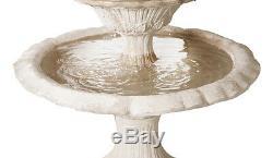 Lorenzo Style Classique Fontaine D'eau 2 Niveau Regal Outdoor Garden Feature 151cm