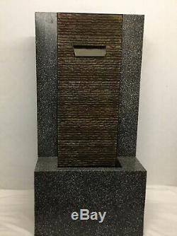 M & S Granite Simple Effet Spout Water Garden Feature Fountain Nouveau Rrp £ 249
