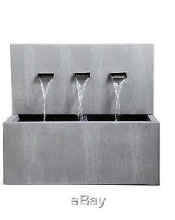 M & S Triple Weathered Water Garden Feature Spout Fountain Nouveau Rrp £ 269