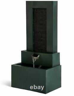 M & S Green Three Tier Water Fountain Feature With Lights Rrp £279