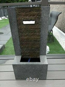 M&s Marks & Spencer Garden Water Fountain Feature With Lights New Rrp £249