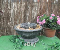 MILL Stone Garden Patio Fontaine D'eau Ornement De Fonction