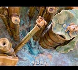Majolique Céramique Fontaine D'eau En Très Bon État Très Rare