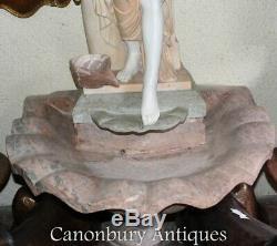 Marbre Italien Fontaine Féminin Figurine Conch Font Feature Eau