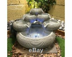 Mini Bols Jardin Contemporain Solar Caractéristiques De L'eau, Fontaine D'extérieur Great Value