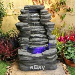 Mini Rocher Chute D'eau Feature, Fontaine D'eau, Avec Des Lumières, Mains, Fontaine De Jardin