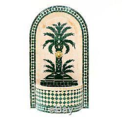 Mosaïque En Plein Air Fontaine D'eau Marocaine Jardin Mur D'eau Fontaine 177 H Par 63 CM