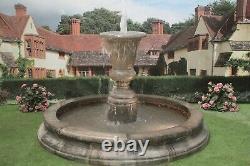 Moyenne Cambrigde Piscine Surround Kensington Urn Water Fountain Garden Feature