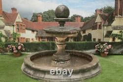 Moyenne Cambrigde Piscine Surround Large Edwardian Ball Water Fountain Garden Featur