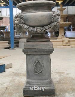 Nombreux Extérieur Stone Garden Lions Urne Fontaine D'eau Caractéristiques