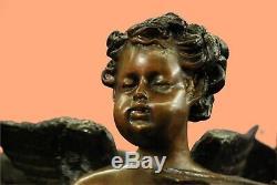 Nouveau Bronze Jardin Fontaine D'extérieur Déco Eau Bird Bath Birdbath 3 Anges Affaire