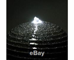 Nouveau Design Fontaine Solaire Twist Avec Led Lumières De Jardins D'eau Extérieur Cour Décor
