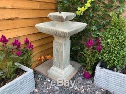Oiseau Contemporain Bath Jardin D'eau Caractéristiques, Énergie Solaire Fontaine D'extérieur