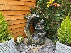 Ouvert Crystal Falls Woodland Garden Eau Caractéristiques, Fontaine D'extérieur Great Value