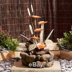 Panneau De Nénuphar En Cascade Avec Trait D'eau De Jardin Serenity Contenant Un Ornement De Fonte De 79 CM