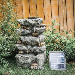 Patio Water Feature Jardin Solar Fontaine Lumières Led Intérieur Extérieur Statue Décor