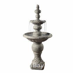 Peaktop Décor Extérieur Jardin 2-tier Pompe À Eau Fontaine D'eau Caractéristiques Vfd8179 Royaume-uni