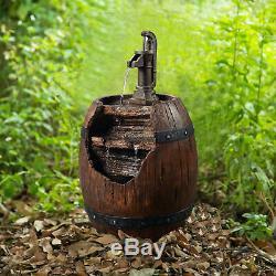 Peaktop Extérieur Jardin Barrell Pompe À Eau Fontaine D'eau Caractéristiques 201610pt Royaume-uni