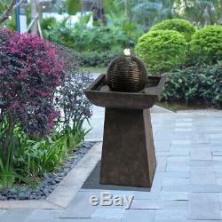 Peaktop Extérieur Jardin Patio Charbon Led Fontaine D'eau Caractéristiques Vfd8410 Royaume-uni