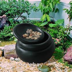 Peaktop Garden Water Fountain Outdoor Garden Pot Waterfall Feature Fi0031aa-royaume-uni