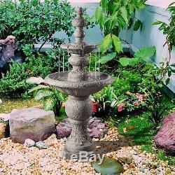 Peaktop Outdoor Décor Garden Fontaine À Pompe À Eau À 2 Niveaux Vfd8179-uk