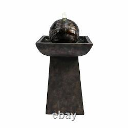 Peaktop Outdoor Garden Patio Charcoal Led Water Fountain Feature Vfd8410-royaume-uni