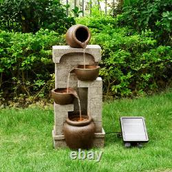 Peaktop Solar Power Fountain Garden Bronze Ornement Lumières Pt-sf0001