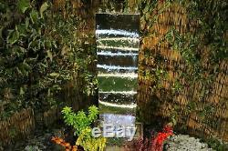 Petit Acier Inoxydable Vague Moderne Jardin D'eau Caractéristiques, Fontaine D'extérieur