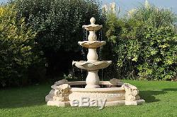 Pierre De Trait D'eau De Fontaine De Jardin En Plein Air De Neopolitan