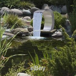 Piscine Cascade Fontaine En Acier Inoxydable Eau Caractéristique Jardin Décor Nouveau