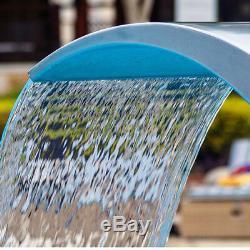 Piscine Cascade Fontaine Pro En Acier Inoxydable Eau Caractéristique Décor De Jardin