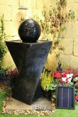 Pompe À Eau Solaire 200 Litres Par Heure Fontaine De Jardin Stone Ball
