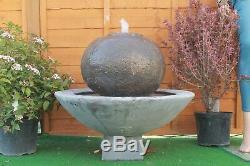 Pompe Solaire De Caractéristique De L'eau De Grand Ornement De Jardin De Fontaine De Boule De Patio