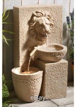 Porto Leone Jardin Extérieur Cascade Solaire De L'eau Feature Fontaine Nouveau