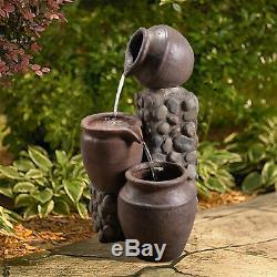 Ppeaktop Extérieur Jardin Patio Pot Cascade Fontaine D'eau Caractéristiques Vfd8210 Royaume-uni