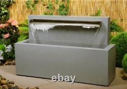 Primrose Blade Cascade Water Feature New In Box Fontaine De Jardin En Acier Inoxydable
