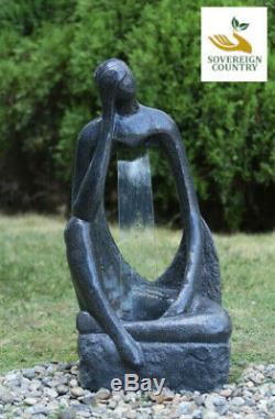 Quoi Si Eau Caractéristique Eau Fontaine Maison Jardin Statue Granit En Pierre Autonome