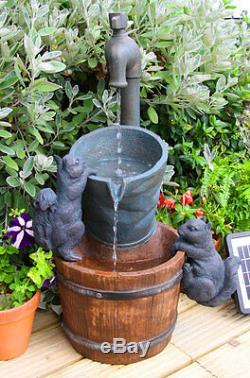 Robinet Seau Eau Barrel Fontaine Fontaine Cascade Cascade Jardin Électrique
