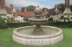 Romford Pool Surround Hampshire Ball Stone Garden Water Fountain Feature