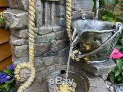 Rustique Jug Traditionnelle Énergie Solaire Jardin D'eau Caractéristiques, Fontaine D'extérieur