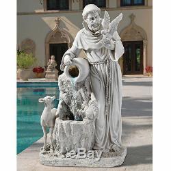 Saint-françois Donner La Vie Waters 39 Résine Antique Pierre Finition Fontaine De Jardin