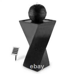 Schönbrunn Garden Outdoor Black Solar Standing Ball Fontaine D'eau