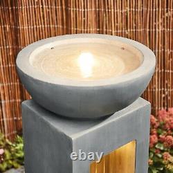Serenity Cascade Garden Water Feature Fontaine Extérieure Led Light Patio Décor Nouveau