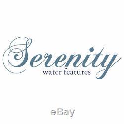 Serenity Double Rock Water Cascading Water Feature Fontaine De Jardin À Led 79cm Nouveau