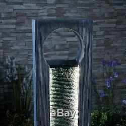 Serenity Fonte De Jardin À Led De 1m Avec Mur D'eau En Cascade Debout Libre Nouveau
