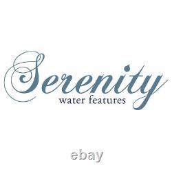 Serenity Garden 48cm Rock Pool Cascadeing Water Feature Led Fontaine Extérieure Nouvelle